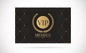 Vip member card vector design illustration
