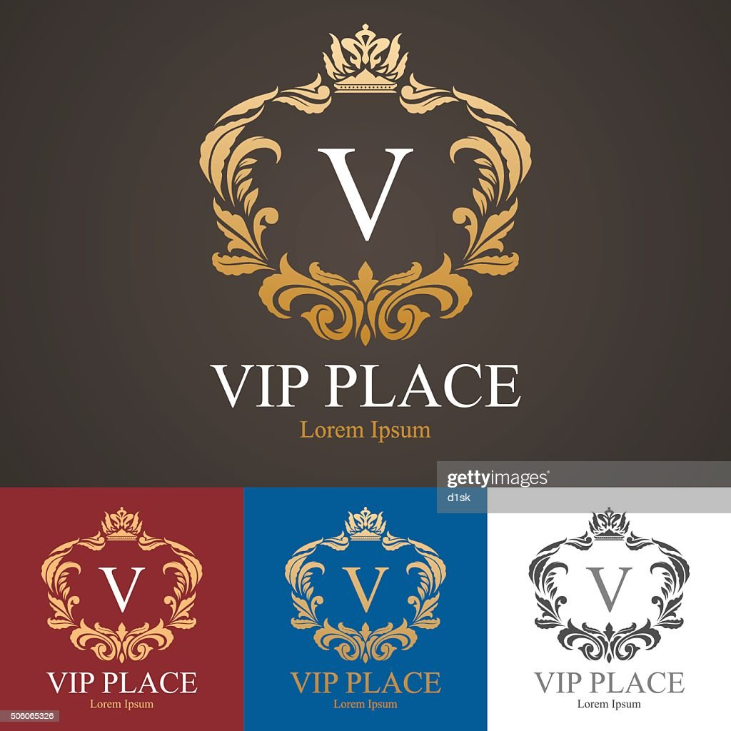 Vip place logo template