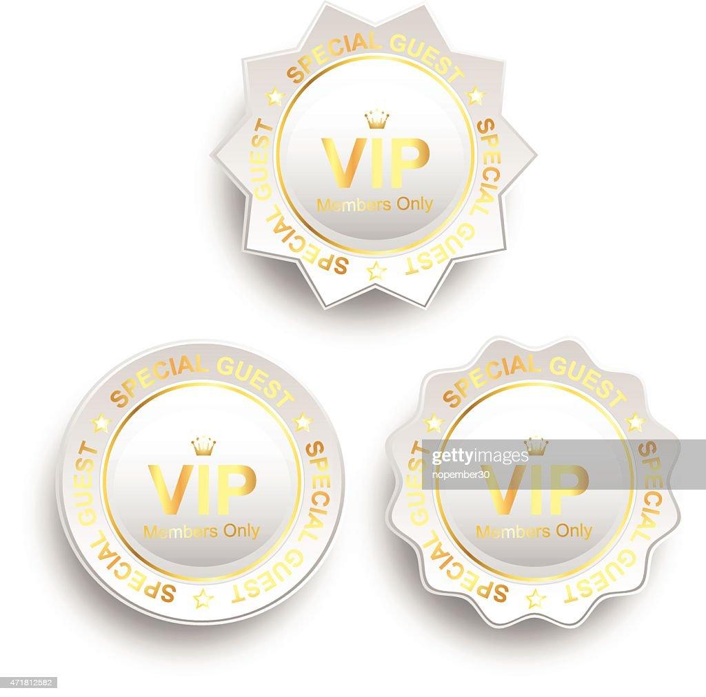vip sign white gold