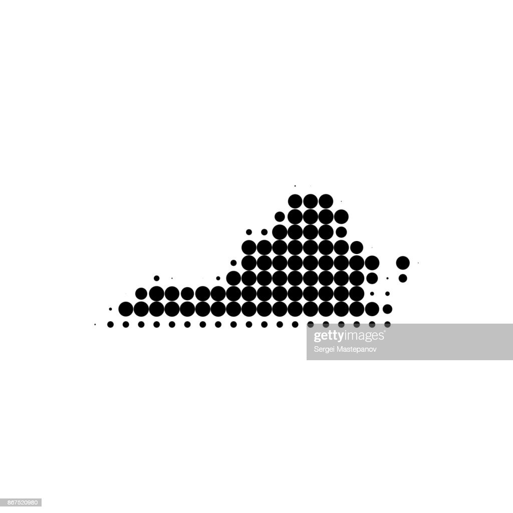 Virginia Dotted Map Vector Stock Illustration - Getty Images