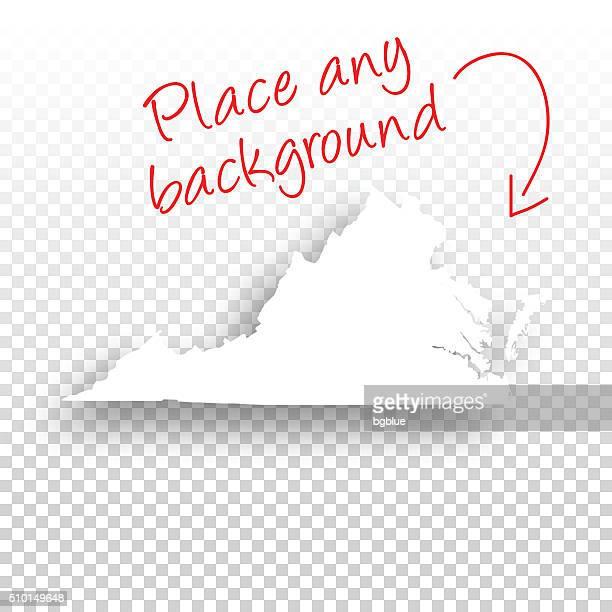virginia map for design - blank background - virginia stock illustrations, clip art, cartoons, & icons
