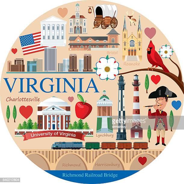 virginia travel - virginia stock illustrations, clip art, cartoons, & icons