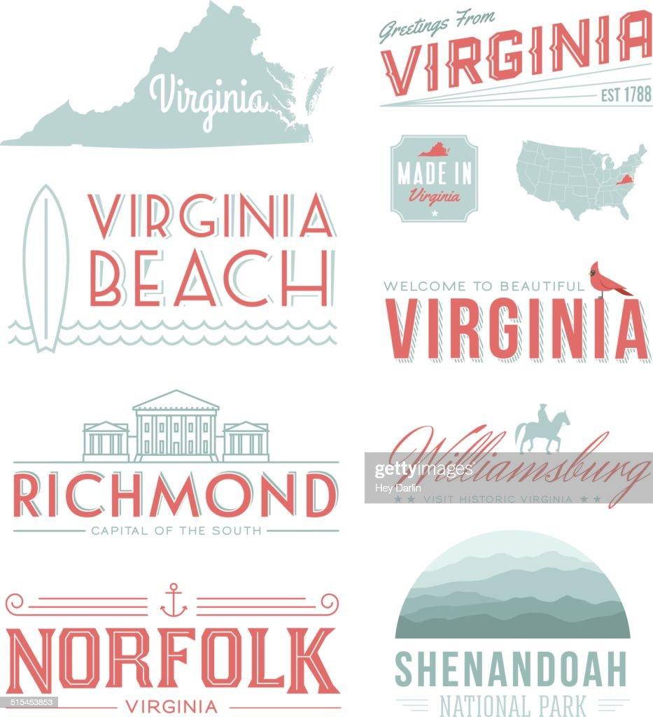 バージニアタイポグラフィー : ストックイラストレーション