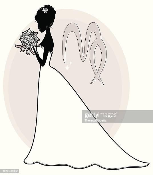 virgo - femininity stock illustrations