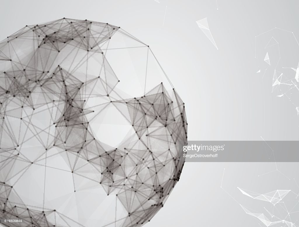 Virtual abstract background with particle, molecule structure. genetic and chemical