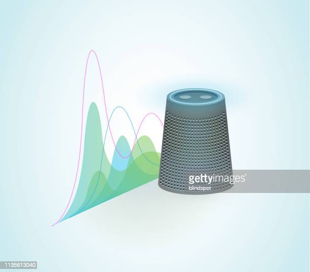 virtual assistant speech recognition - speech recognition stock illustrations