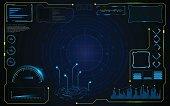virtual circle hud gui infographic elements futuristic  concept background