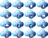 Virtual cloud icons Set 2
