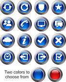 Virtual cloud icons Set Two