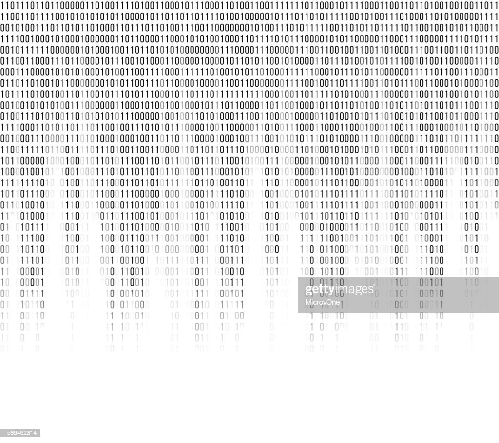 Virtual computer binary code abstract background