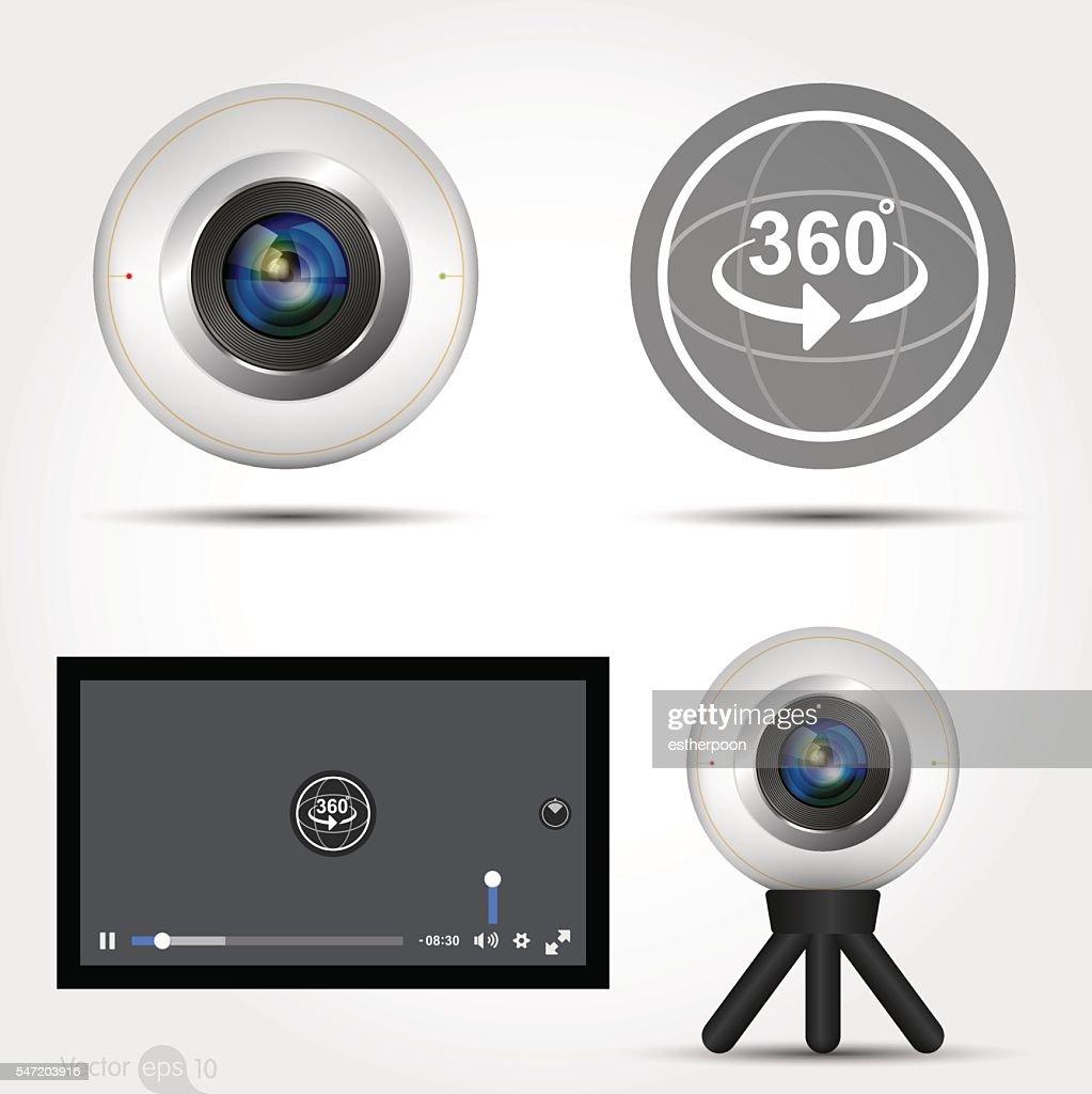 Virtual Reality 360 Media player interface