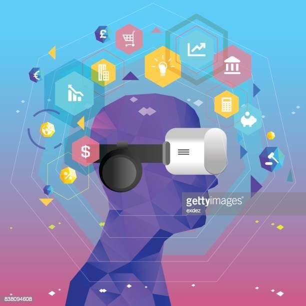 ilustrações, clipart, desenhos animados e ícones de negócio de realidade virtual baseada - realidade virtual