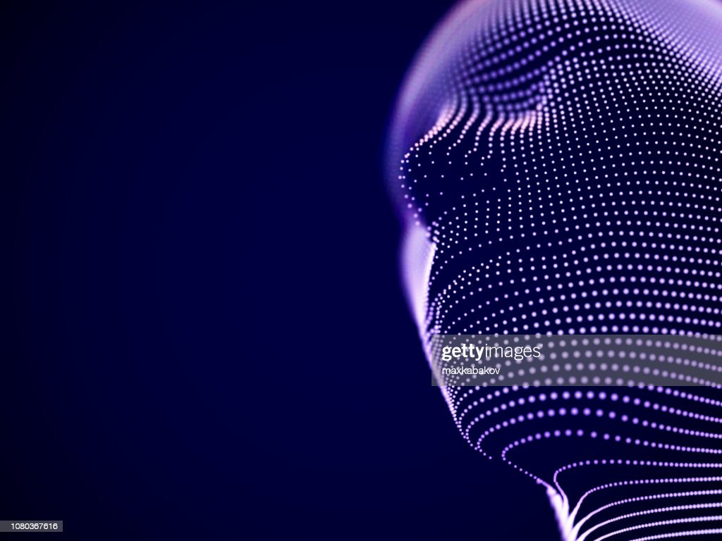 Virtual reality concept: abstract visualization of artificial intelligence : stock illustration