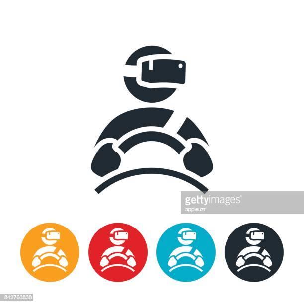 Icono de simulador de conducción de realidad virtual