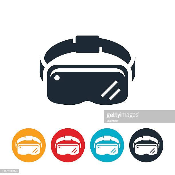 virtual reality headset - flying goggles stock illustrations