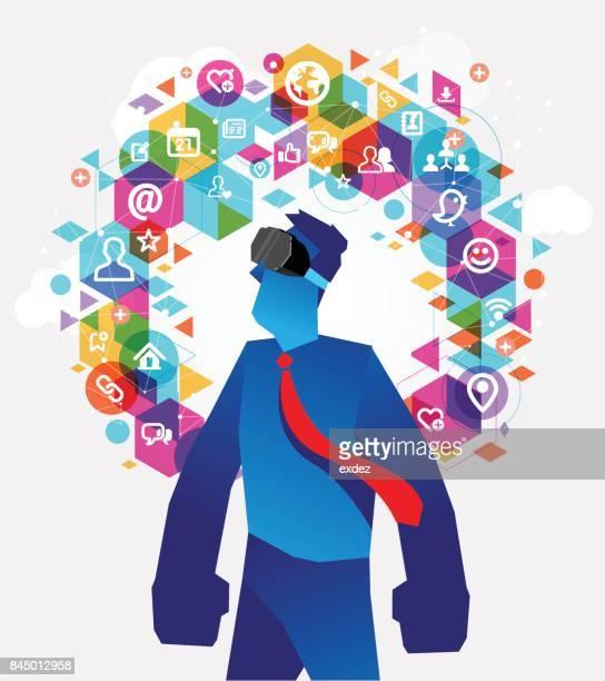 Virtual reality social network
