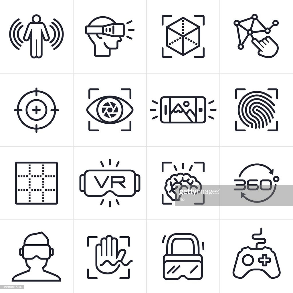 Virtual Reality Technology Icons and Symbols