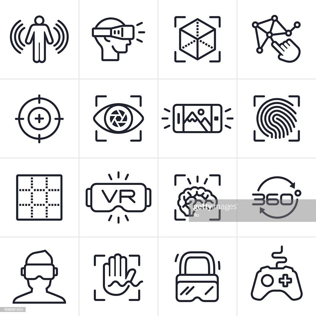 Virtual Reality Technology Icons and Symbols