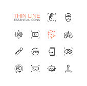 Virtual Reality - Thin Single Line Icons Set