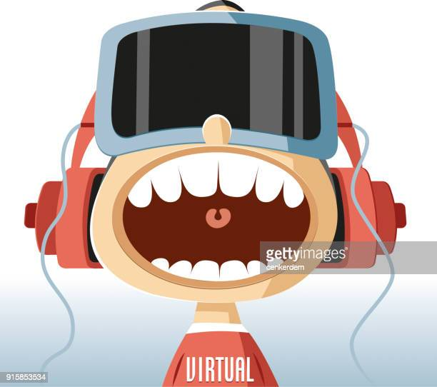 ilustrações, clipart, desenhos animados e ícones de realidade virtual - realidade virtual