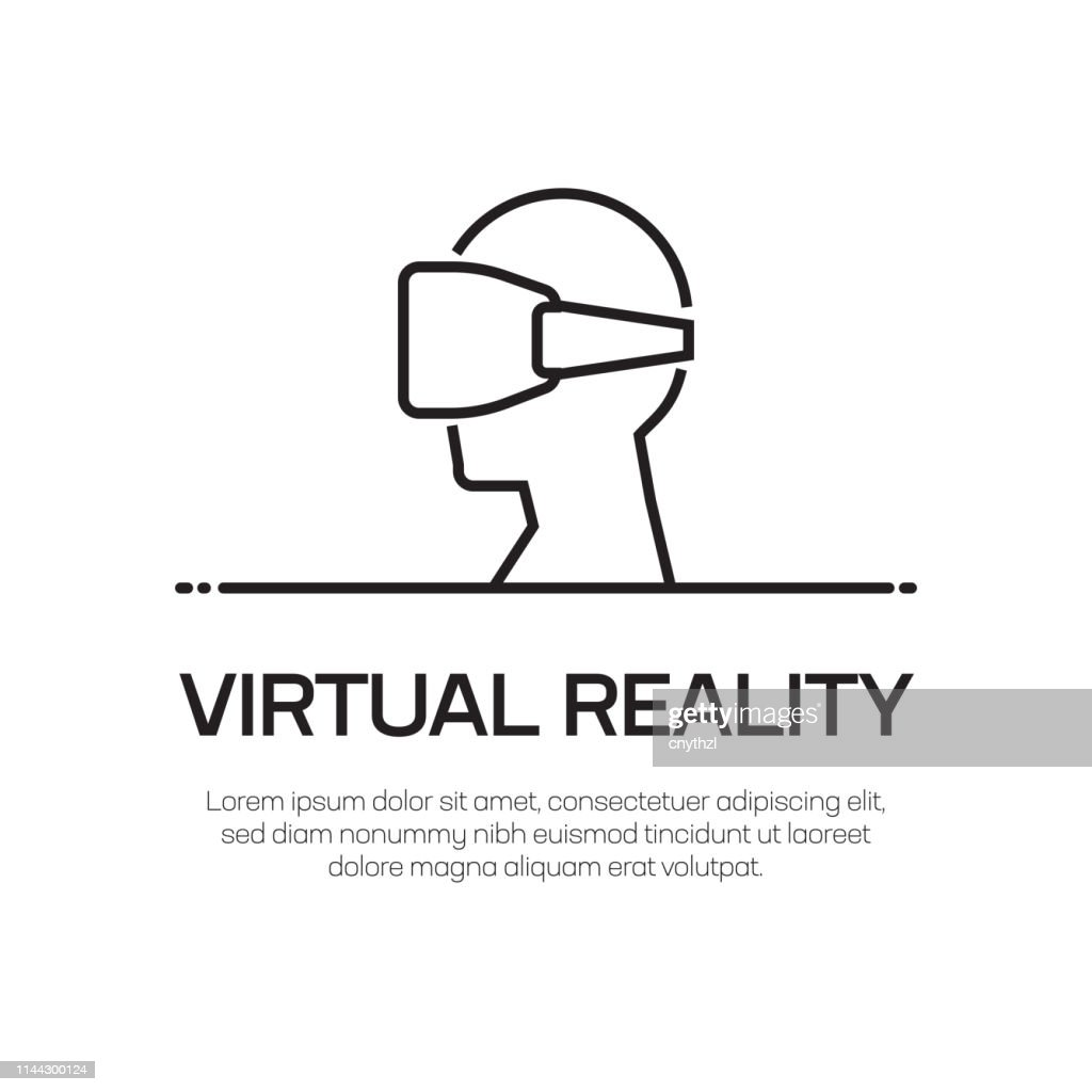 Virtual Reality Vector Line Icon - Simple Thin Line Icon, Premium Quality Design Element : stock illustration