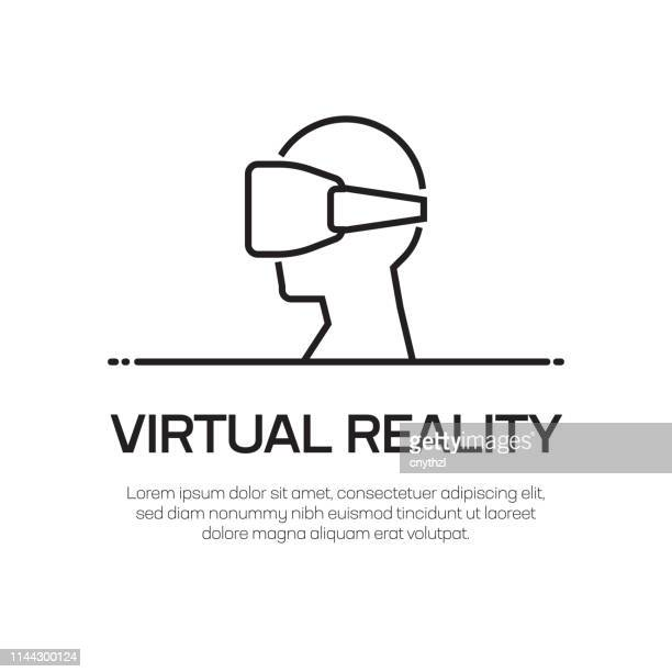 Virtual Reality Vector Line Icon - Simple Thin Line Icon, Premium Quality Design Element