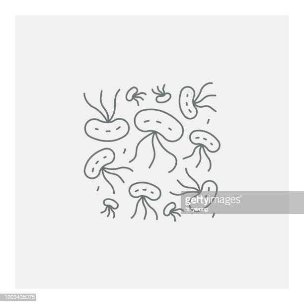 ウイルス細胞アイコン - 大腸菌点のイラスト素材/クリップアート素材/マンガ素材/アイコン素材