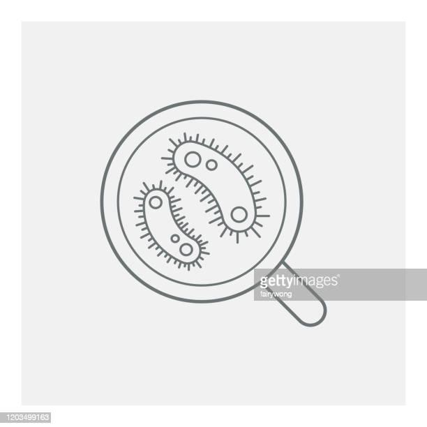virus cell icon - e. coli stock illustrations