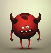 Virus microbe, red