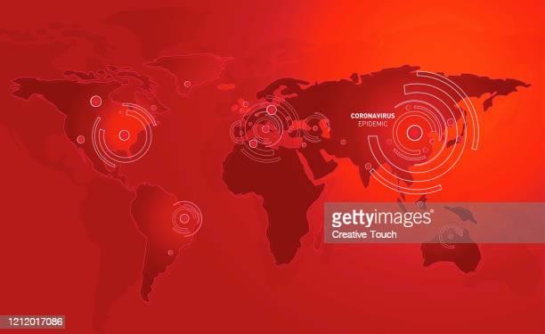 virus on the world - illness prevention stock illustrations