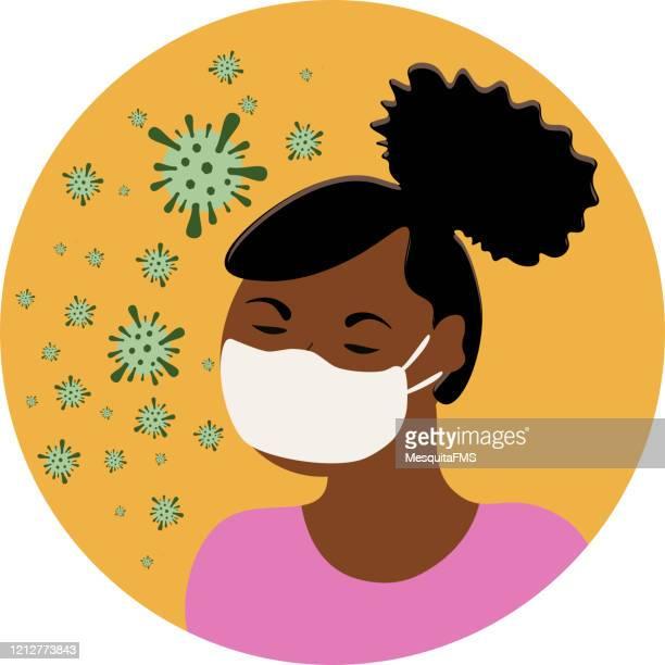virus prevention - sneezing stock illustrations