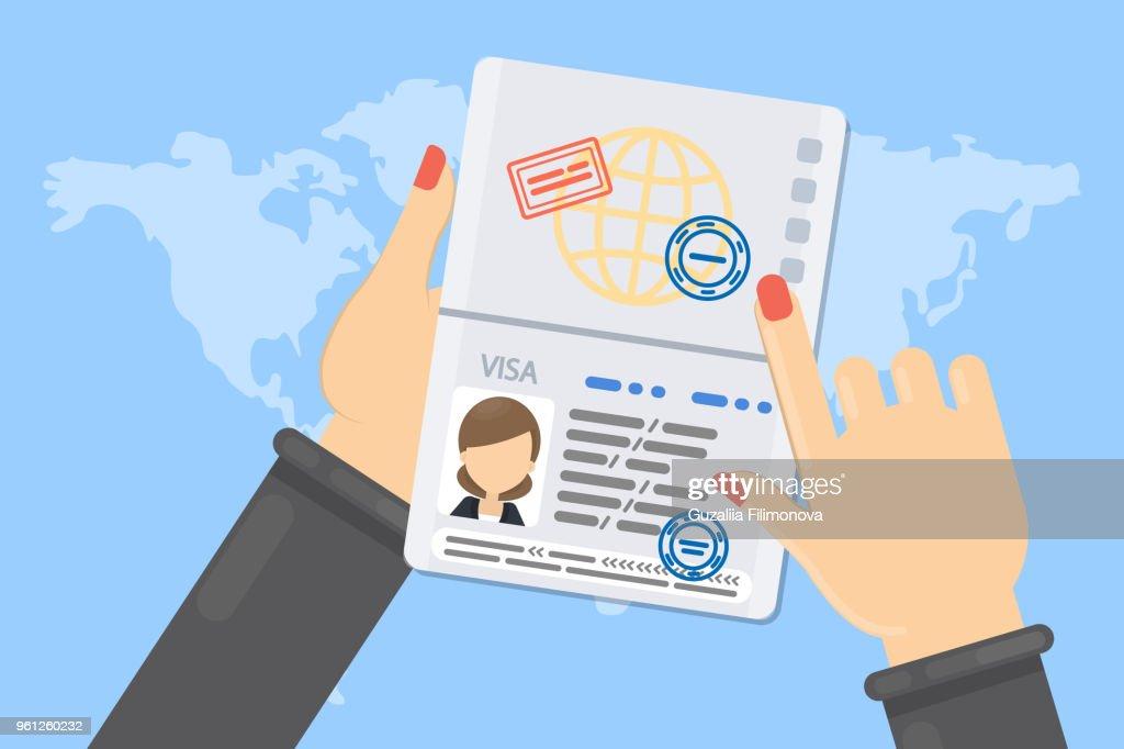 Visa of woman.