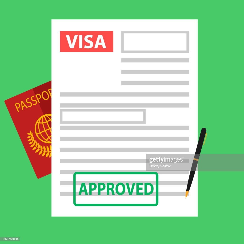 Visa, registration of documents for immigration, passport.