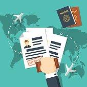 Visa stamping vector illustration.