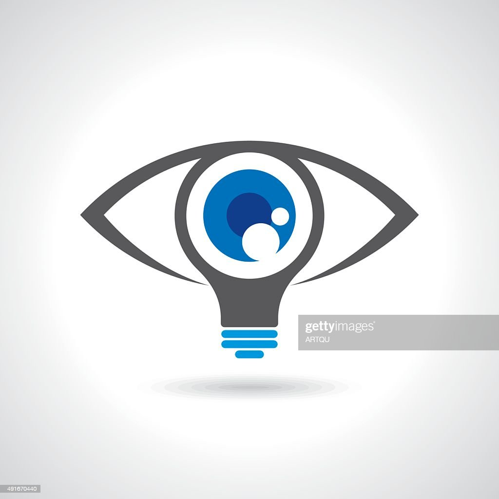 Vision And Ideas Signeye Iconlight Bulb Symbol Vector Art Getty Images