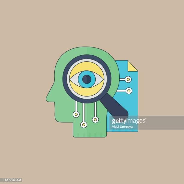 ilustrações, clipart, desenhos animados e ícones de conceito do ícone da visão - mindfulness