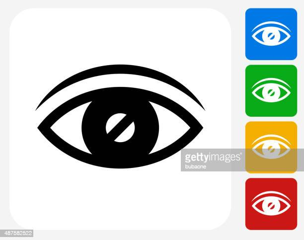vision icon flat graphic design - blindness stock illustrations, clip art, cartoons, & icons