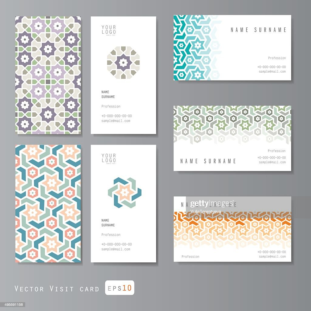 Visit cards set islamic