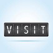 Visit departure board