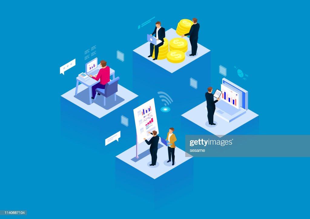 Visuelle Daten modernes Business Büro : Stock-Illustration