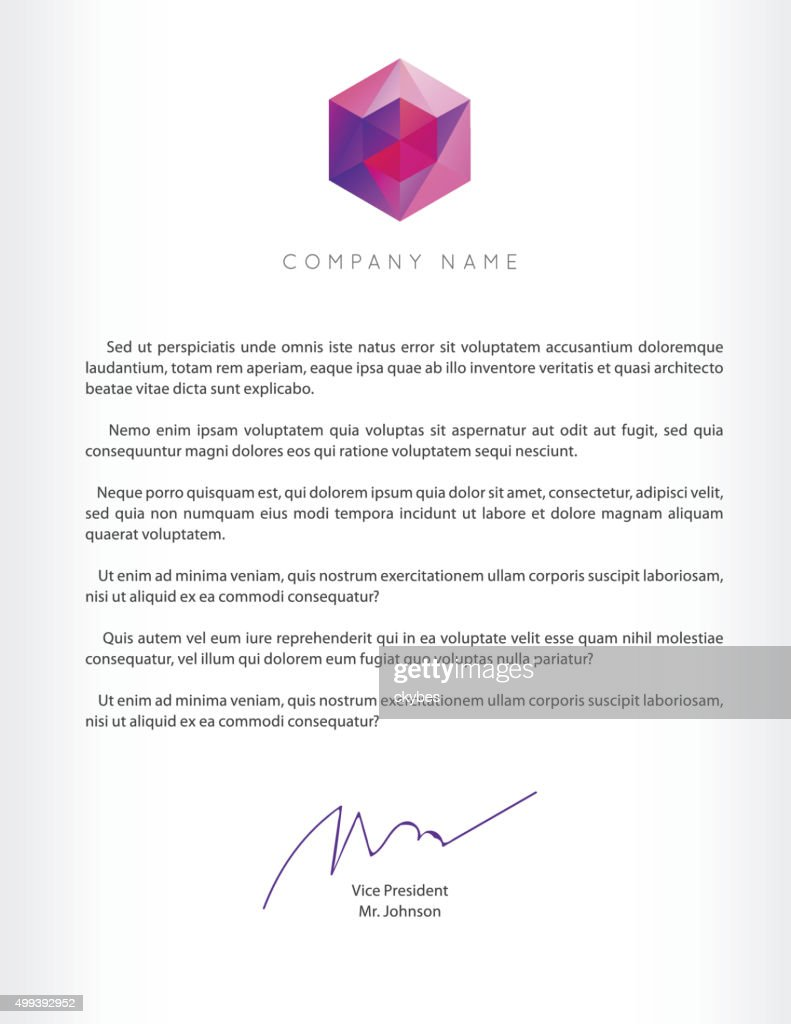 Visual identity with letter logo elements polygonal style