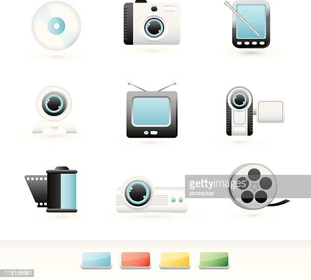 visual media icon set