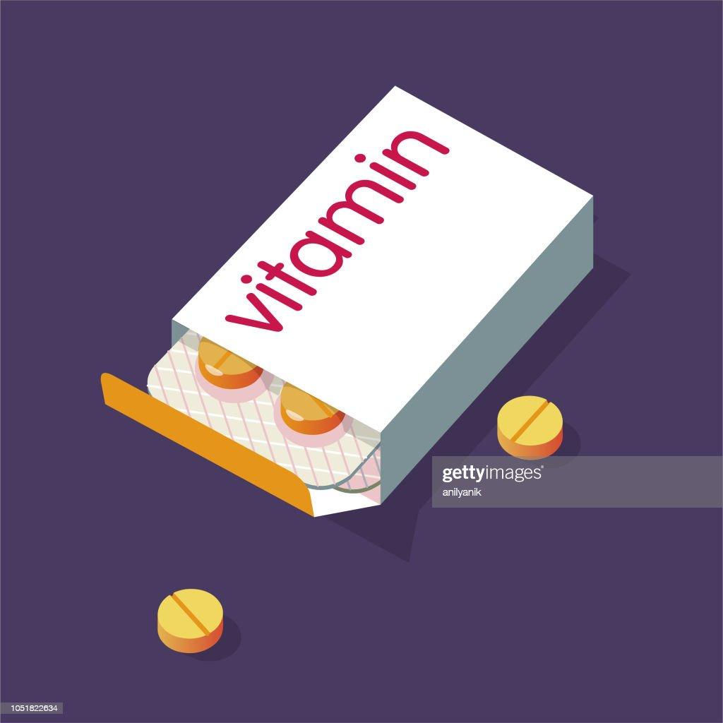 Vitamina pílulas : Ilustração