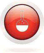 Vitro red glossy button