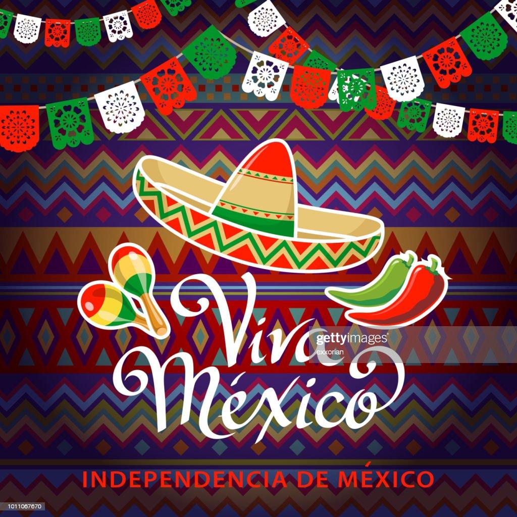 Viva México independência celebração : Ilustração