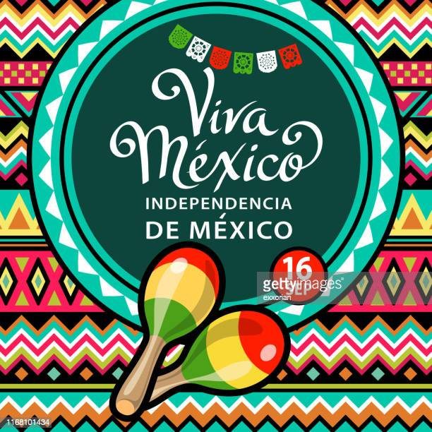 viva mexico independence celebration - blanket stock illustrations