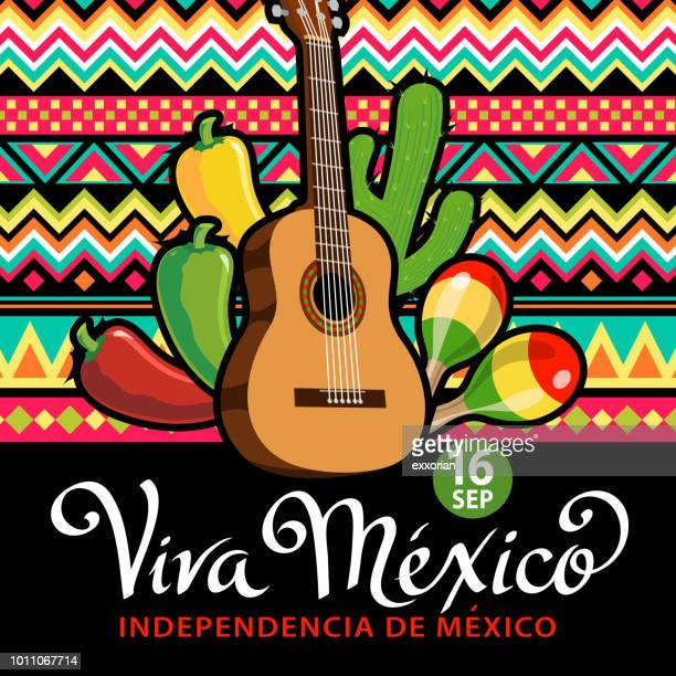 viva mexico independence day celebration - independence day stock illustrations, clip art, cartoons, & icons