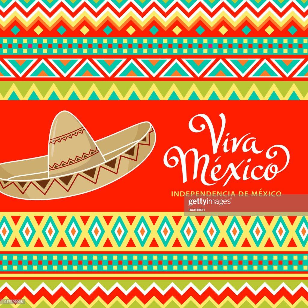 Viva Mexico Sombrero : Ilustração de stock