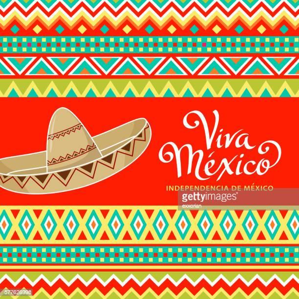 ilustrações de stock, clip art, desenhos animados e ícones de viva mexico sombrero - sombrero