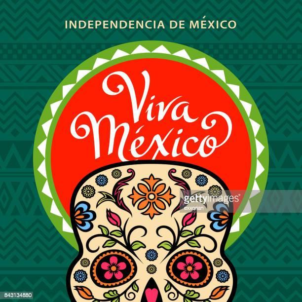 Viva Mexico Sugar Skull